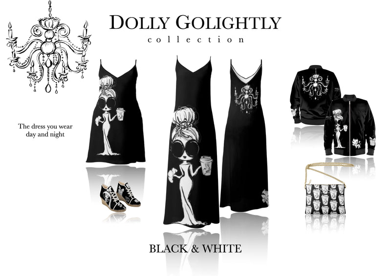 [ OUTLET] DOLLY GOLIGHTLY LEATHER CROSSBODY BAG black & white
