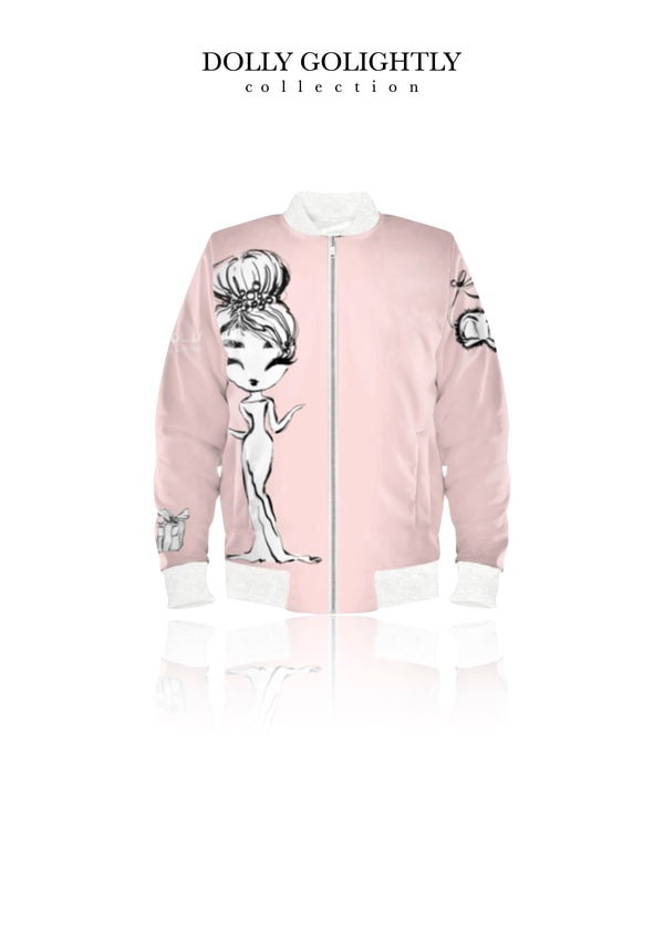[ MADE TO ORDER!] DOLLY GOLIGHTLY BOMBER JACKET ballet pink