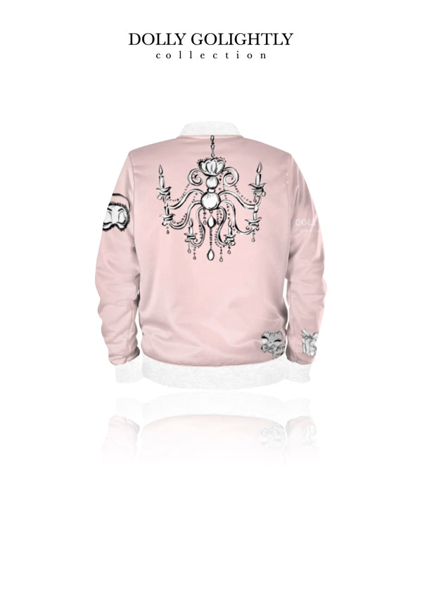 DOLLY GOLIGHTLY BOMBER JACKET ballet pink