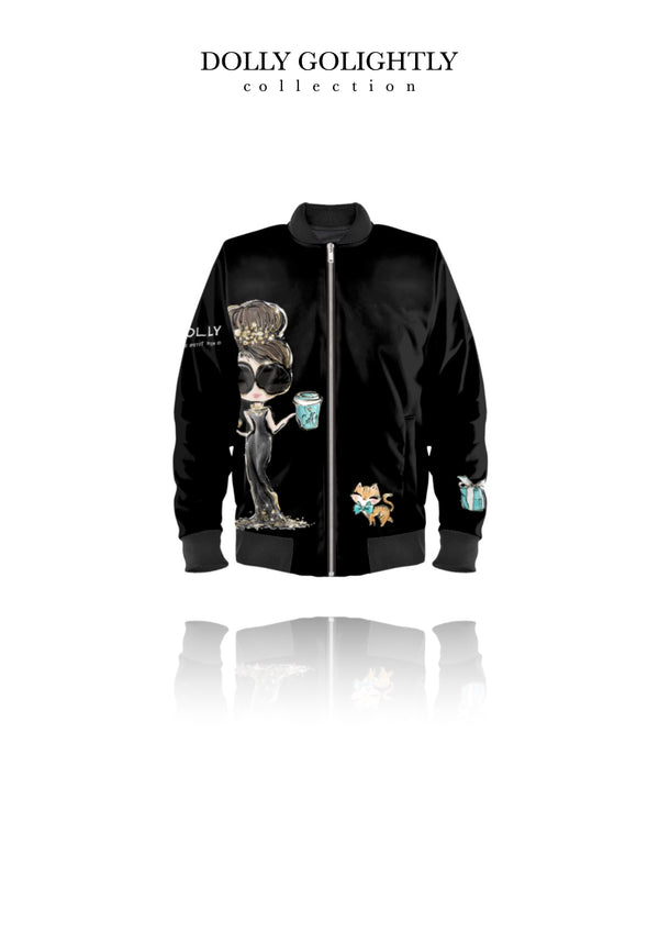 [ MADE TO ORDER!] DOLLY GOLIGHTLY BOMBER JACKET luxury black