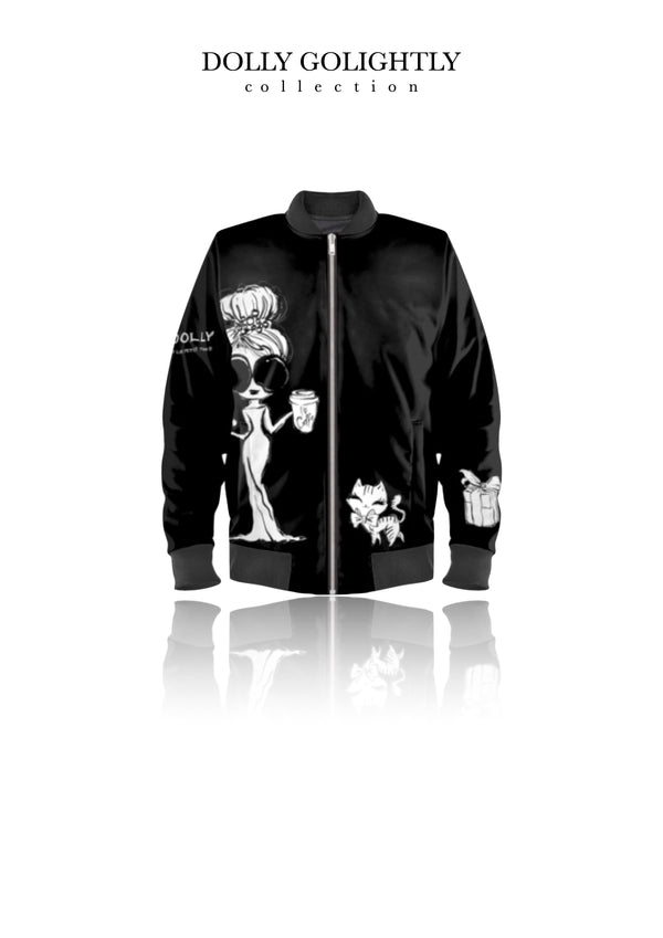 [ MADE TO ORDER!] DOLLY GOLIGHTLY BOMBER JACKET black & white