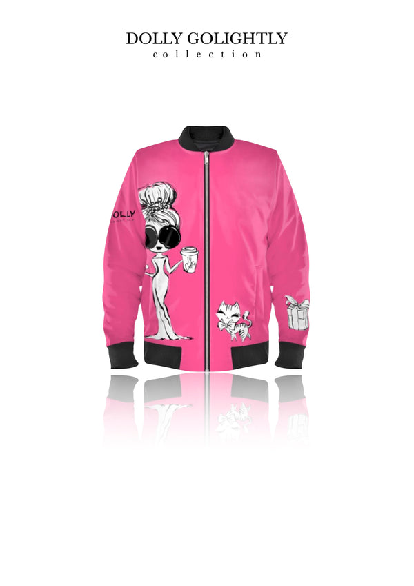 [ MADE TO ORDER!] DOLLY GOLIGHTLY BOMBER JACKET Golightly pink