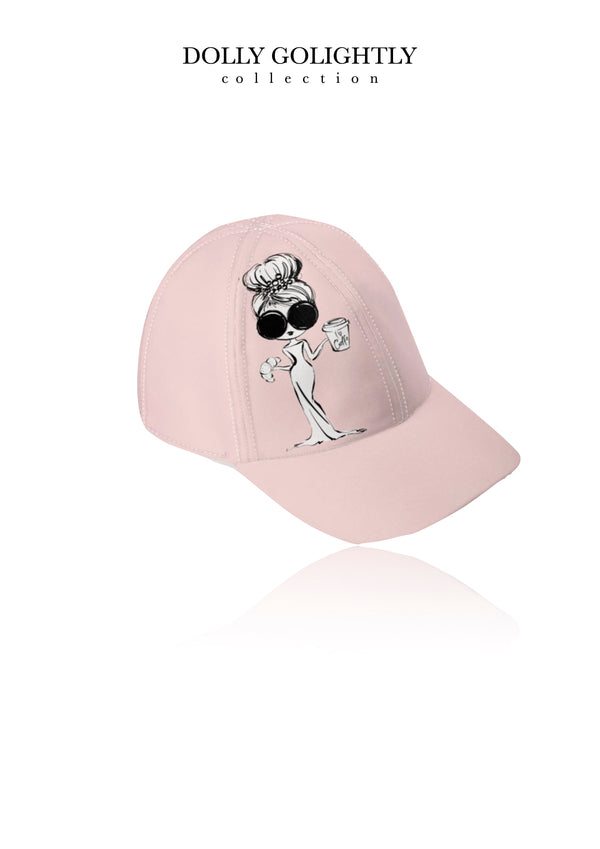 DOLLY GOLIGHTLY DESIGNER BASEBALL CAP ballet pink