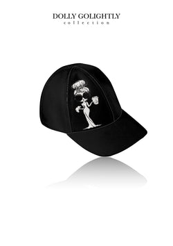 DOLLY GOLIGHTLY DESIGNER BASEBALL CAP black