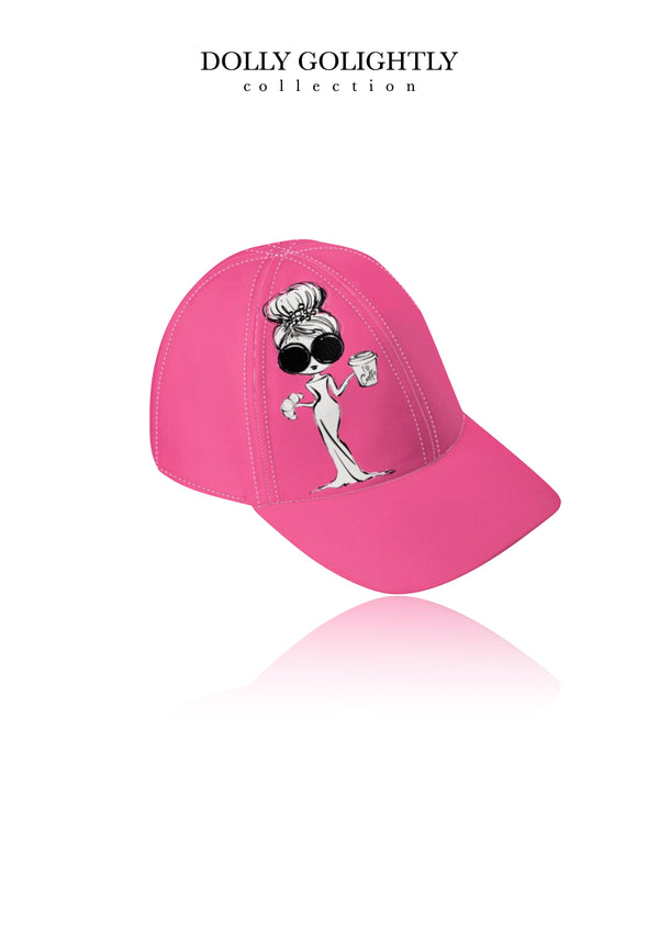DOLLY GOLIGHTLY DESIGNER BASEBALL CAP Golightly pink
