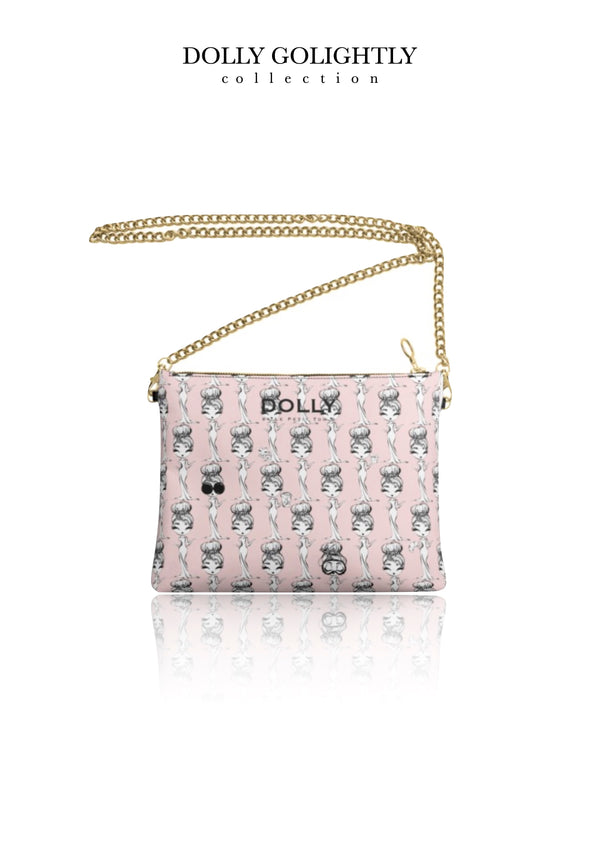 [ OUTLET] DOLLY GOLIGHTLY LEATHER CROSSBODY BAG ballet pink