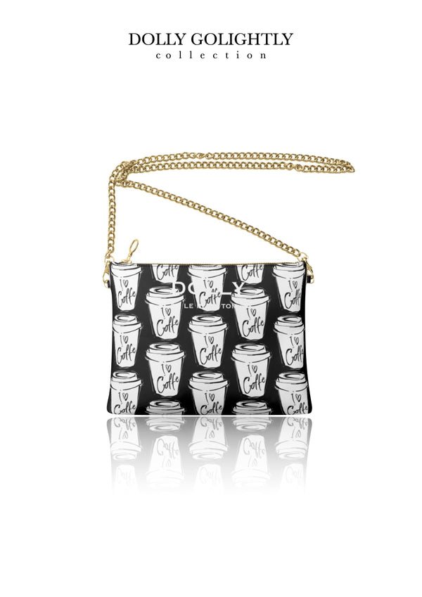 [MADE TO ORDER!] DOLLY GOLIGHTLY LEATHER CROSSBODY BAG black & white