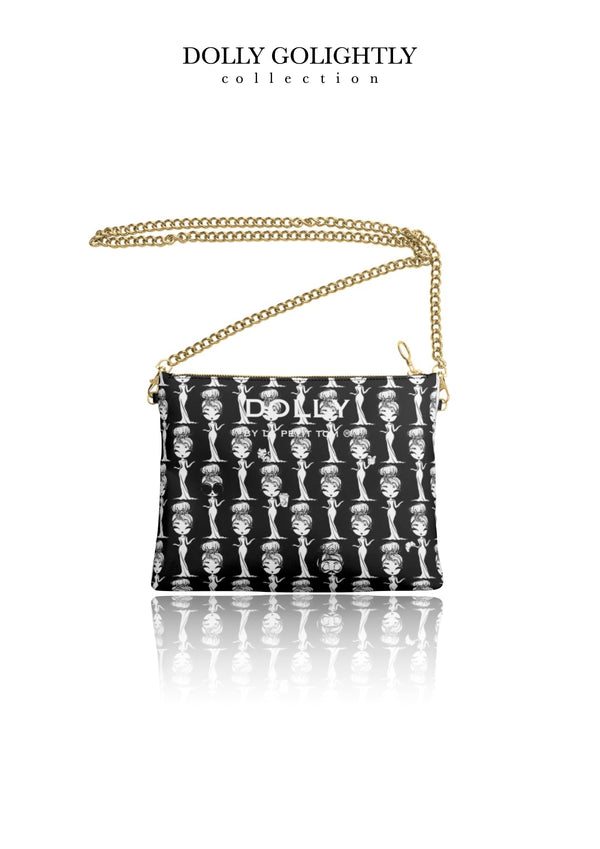 DOLLY GOLIGHTLY LEATHER CROSSBODY BAG black & white