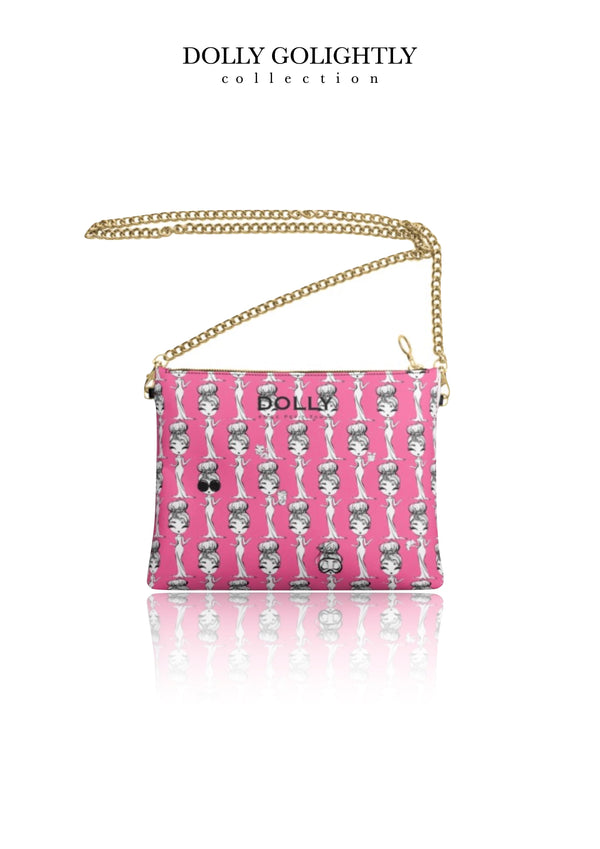 DOLLY GOLIGHTLY LEATHER CROSSBODY BAG Golightly pink