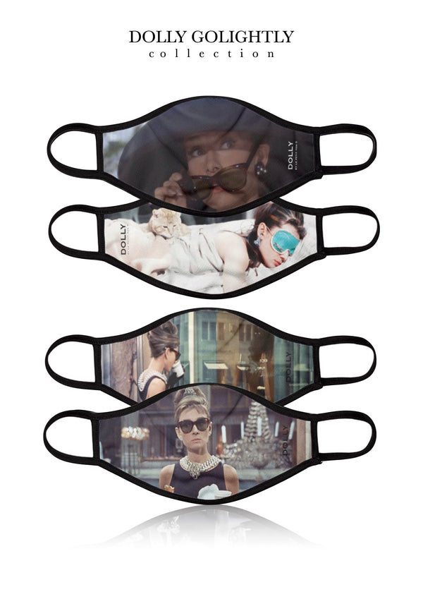 [OUTLET] DOLLY REAL GOLIGHTLY BREATHABLE FASHION FACE MASK MOUTH CAP ( Set of 4) FULL COLOR