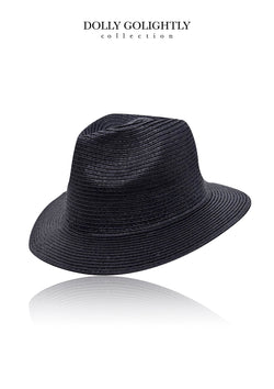 DOLLY GOLIGHTLY FEDORA HAT black or white