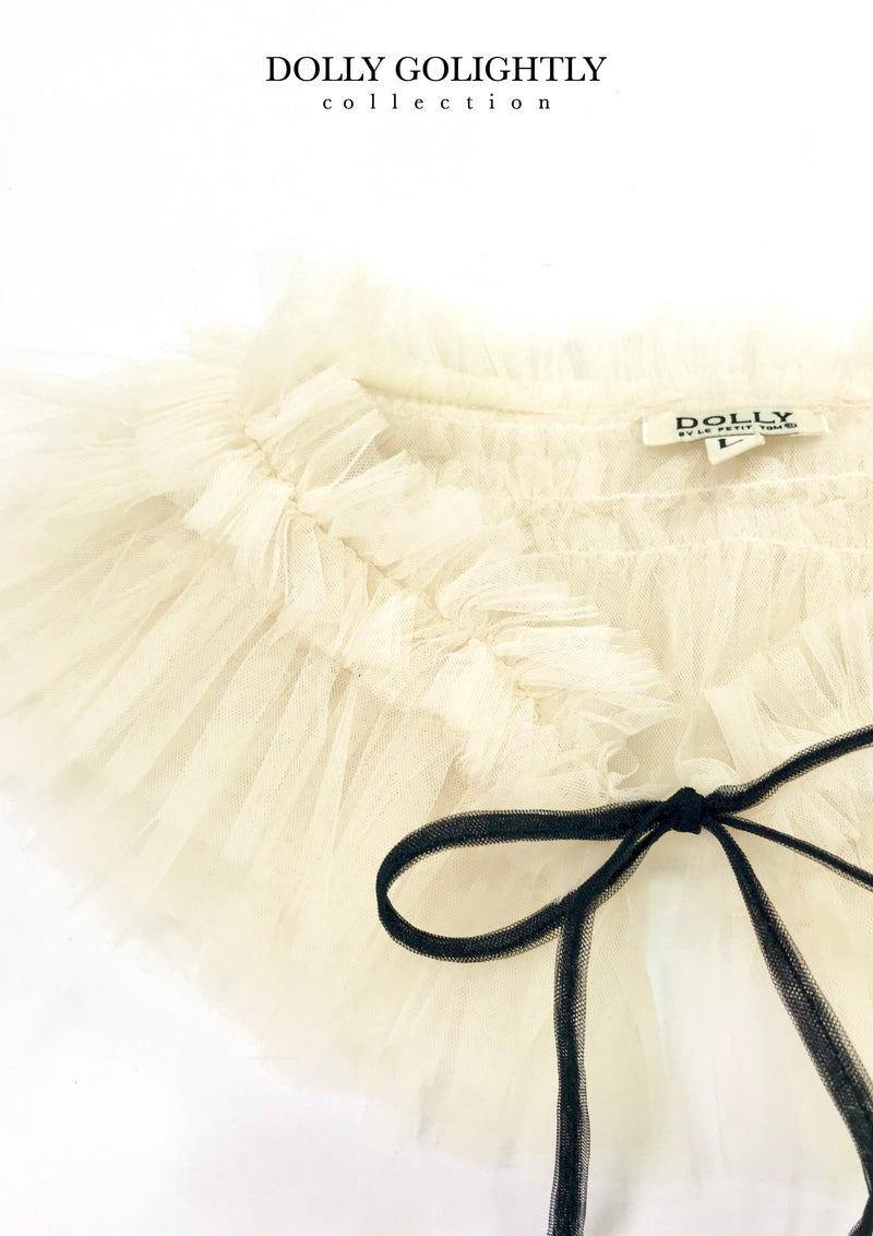 [ OUTLET] DOLLY GOLIGHTLY TULLE NECK RUFFLE I ♥coffee