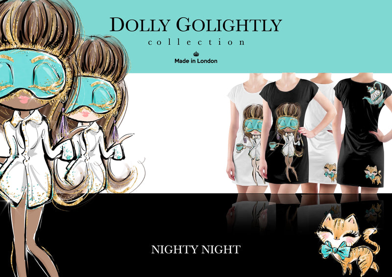 [ MADE TO ORDER!] DOLLY GOLIGHTLY SLEEP TUNIC T-SHIRT DRESS white
