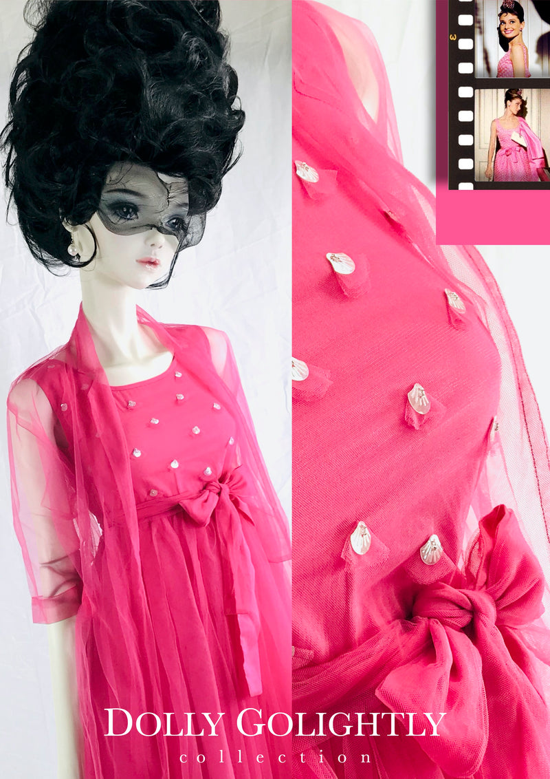 [ OUTLET] DOLLY GOLIGHTLY PINK TULLE CAPE pink