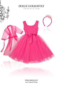 DOLLY GOLIGHTLY Breakfast @ Tiffany's PINK TUTU DRESS SET pink