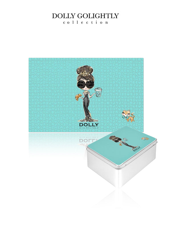 DOLLY GOLIGHTLY PUZZLE IN TIN 1000pcs Tiffany blue