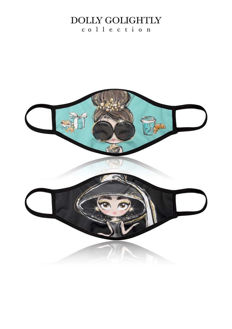 DOLLY GOLIGHTLY BREATHABLE FASHION FACE MASK MOUTH CAP ( Set of 4)