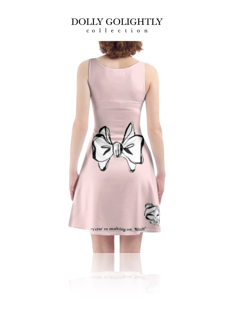 DOLLY GOLIGHTLY SKATER DRESS ballet pink