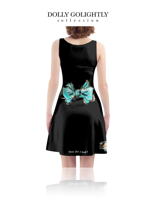 [ MADE TO ORDER!] DOLLY GOLIGHTLY SKATER DRESS luxury black