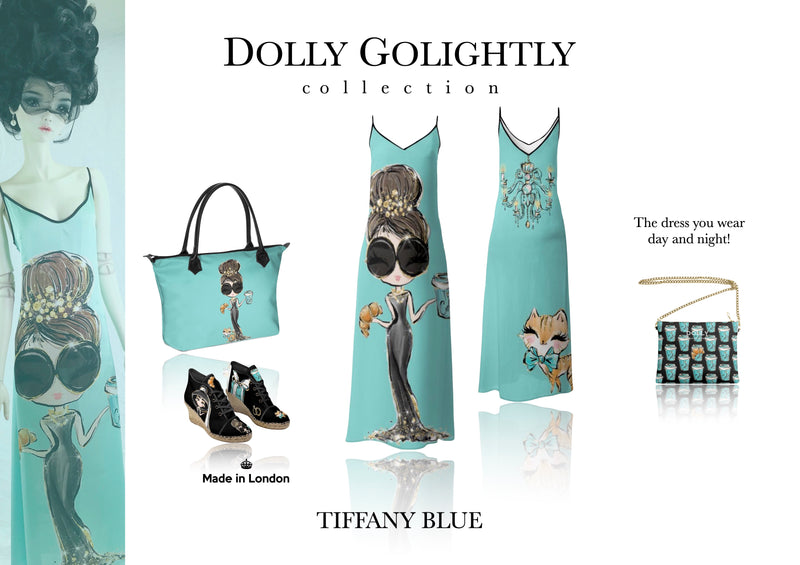 [ MADE TO ORDER!] DOLLY GOLIGHTLY MAXI SLIP DRESS Tiffany blue sunglasses
