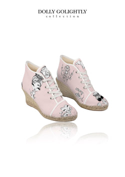 DOLLY GOLIGHTLY WEDGE ESPADRILLES ballet pink