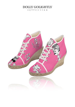 DOLLY GOLIGHTLY WEDGE ESPADRILLES Golightly pink