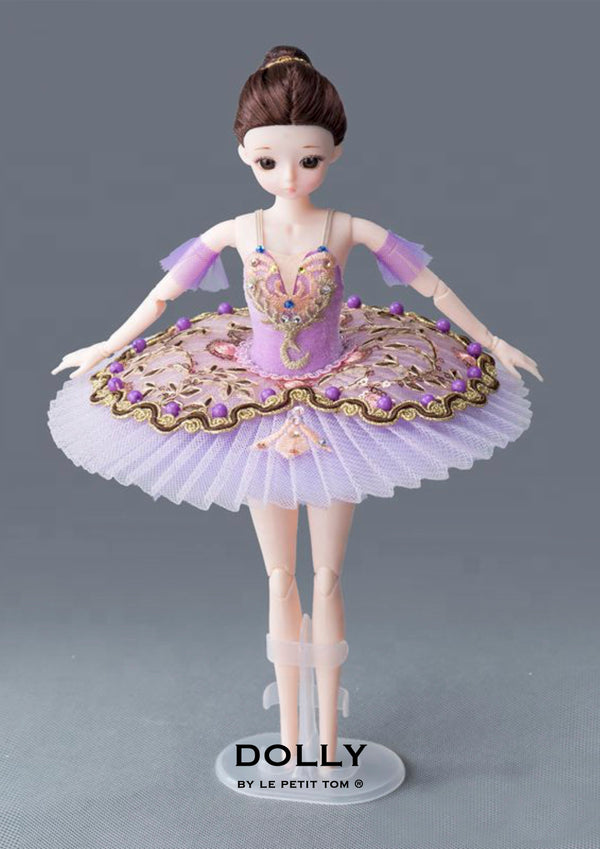DOLLY's BALLERINA DOLL HANDMADE MINI PANCAKE TUTU T002 purple