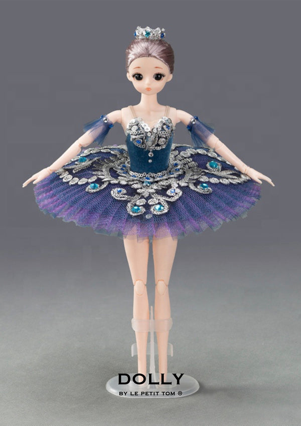 DOLLY's BALLERINA DOLL HANDMADE MINI PANCAKE TUTU T009 navy