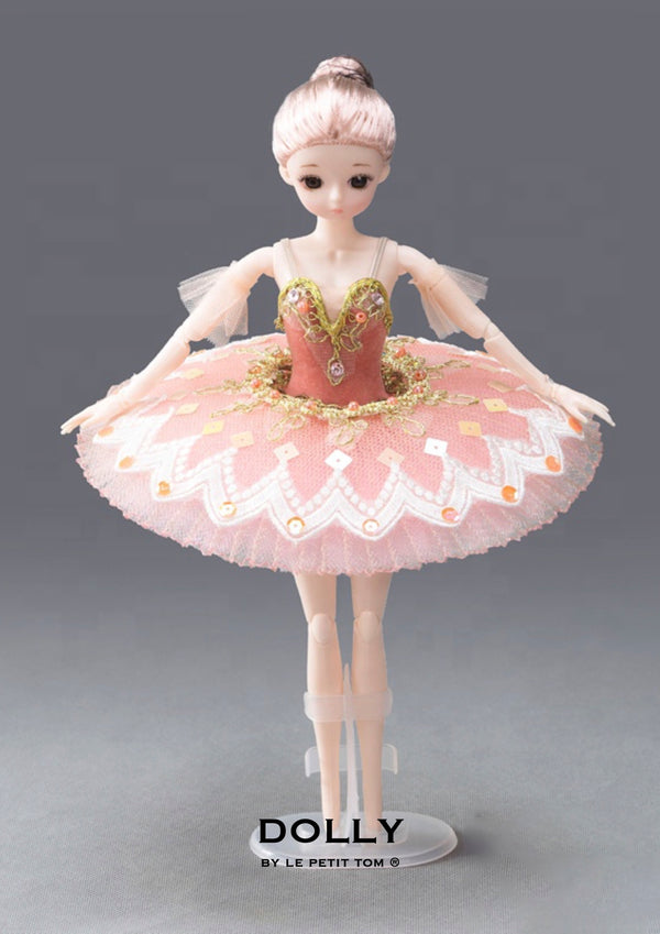DOLLY's BALLERINA DOLL HANDMADE MINI PANCAKE TUTU T012 dusty pink