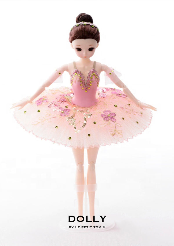 DOLLY's BALLERINA DOLL WITH A HANDMADE MINI PANCAKE TUTU T016 pink
