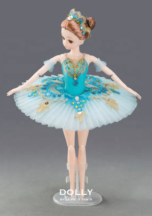 [ OUTLET] DOLLY's BALLERINA DOLL WITH A HANDMADE MINI PANCAKE TUTU T020 turquoise