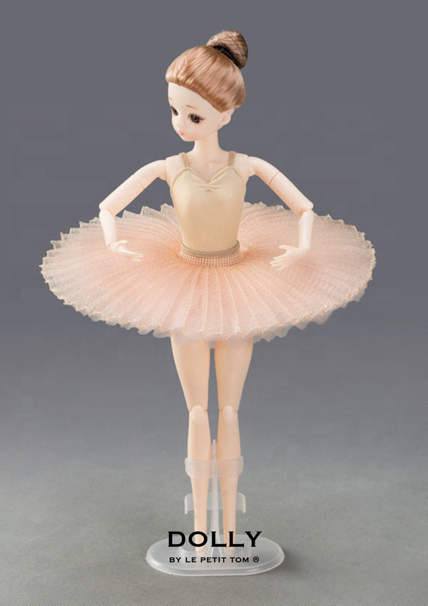 DOLLY's BALLERINA DOLL HANDMADE MINI PANCAKE TUTU T023 light pink
