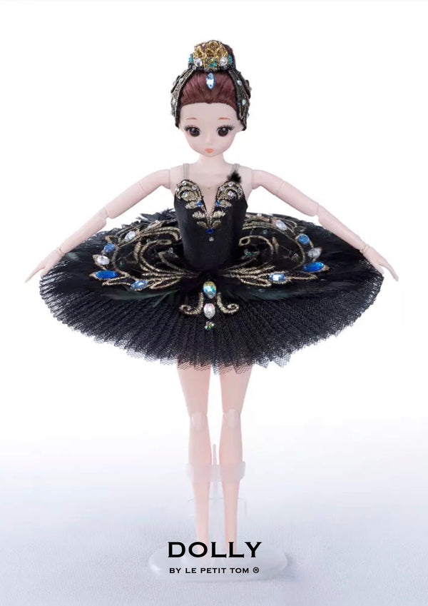 DOLLY's BALLERINA DOLL WITH A HANDMADE MINI PANCAKE TUTU T025 black