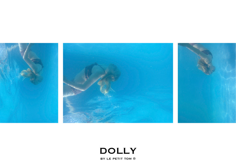 [ OUTLET!] DOLLY by Le Petit Tom ® SMOCKED BIKINI/ UNDERWEAR mauve