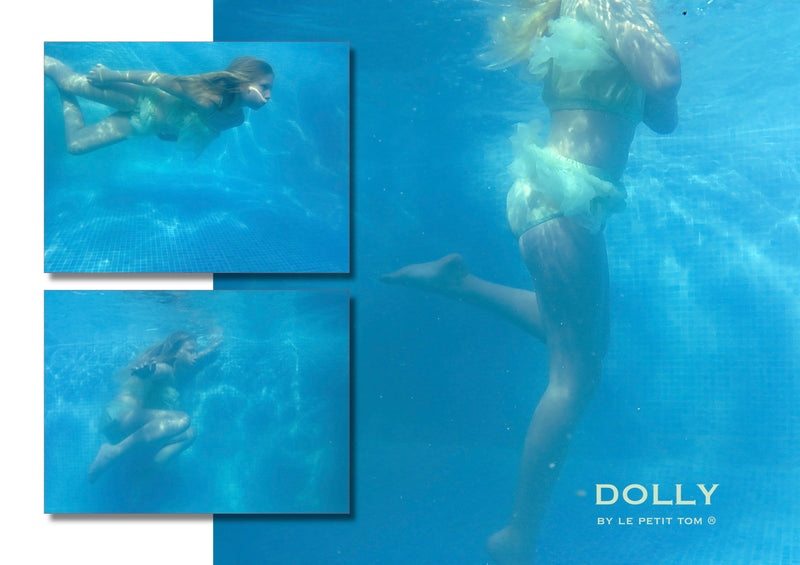 [ OUTLET!] DOLLY by Le Petit Tom ® BEACH BALLERINA BIKINI/ UNDERWEAR neo mint