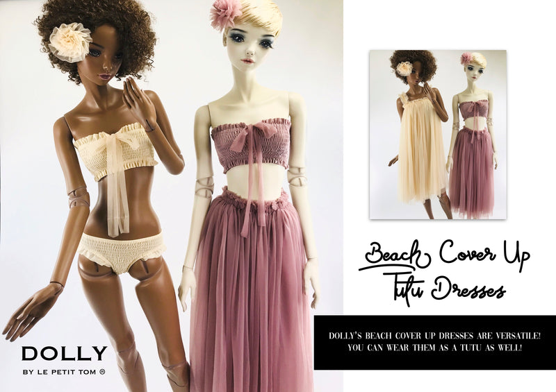 [ OUTLET!] DOLLY by Le Petit Tom ® SMOCKED BIKINI/ UNDERWEAR cream