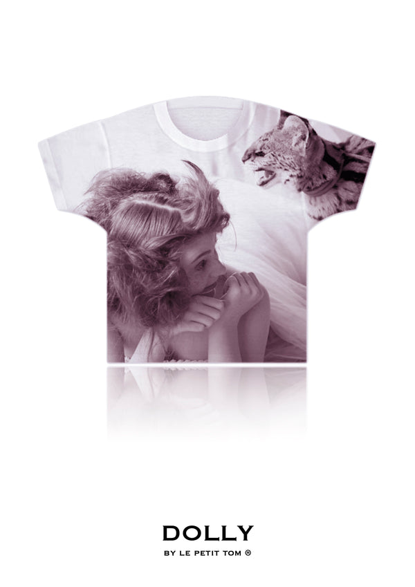 DOLLY GIRLS T-SHIRT CAT PRINCESS dusty pink