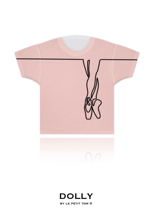 GIRLS T-SHIRT I AM DOLLY BALLERINA pink