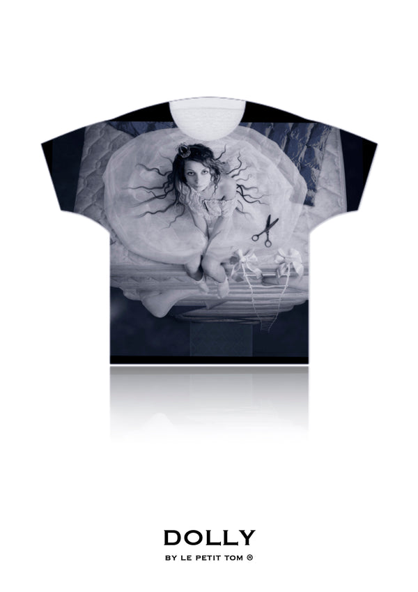 DOLLY GIRLS T-SHIRT PRINCESS & THE PEA dark grey