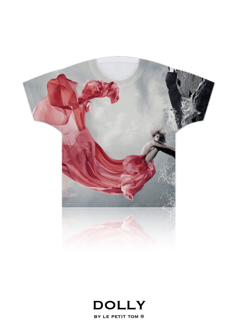 DOLLY GIRLS T-SHIRT QUEEN OF FAIRIES coral