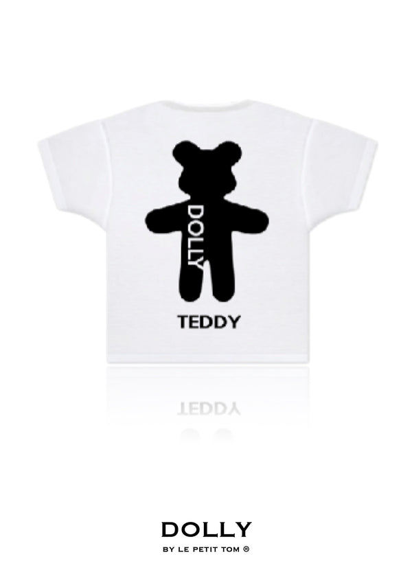 DOLLY GIRLS T-SHIRT TEDDY white