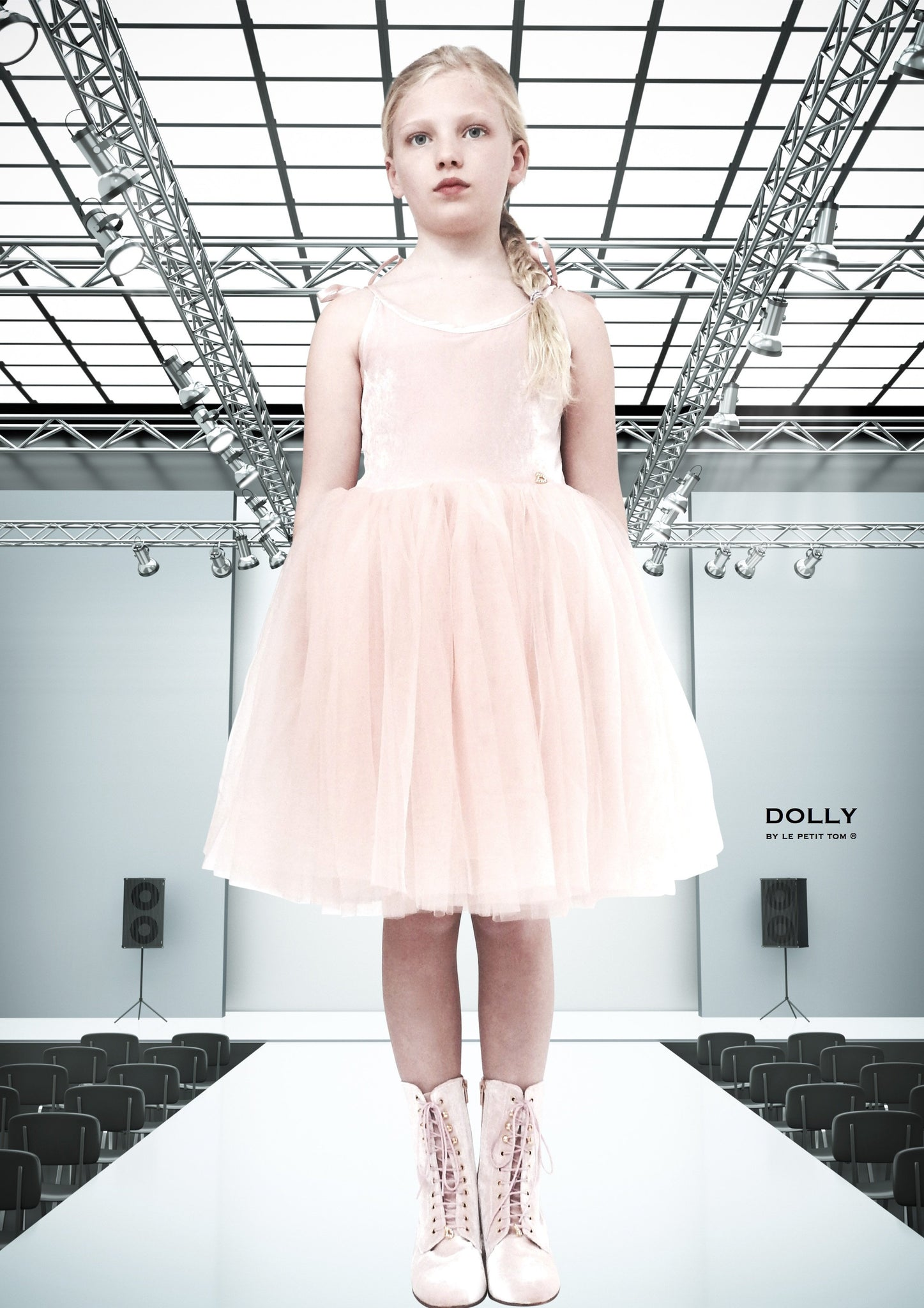 DOLLY by Le Petit Tom ® VELVET SABRINA TUTU dress ballet pink