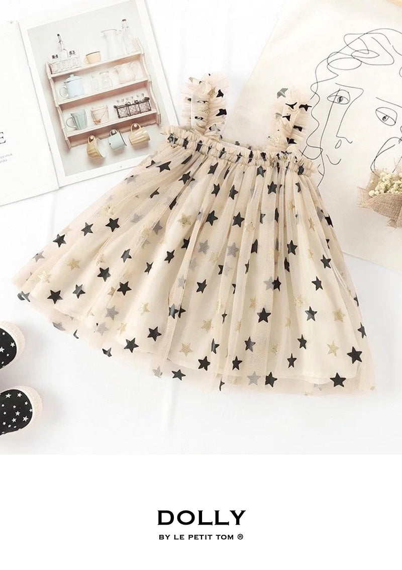 DOLLY by Le Petit Tom ® 2 WAY TUTU DRESS  black stars