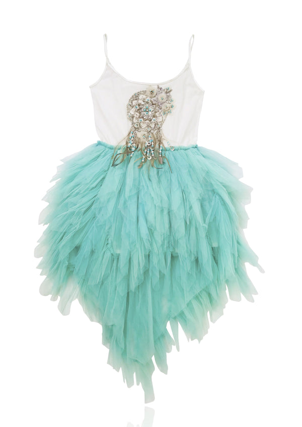 DOLLY by Le Petit Tom ® BOHO dreamcatcher tutu dress turquoise - DOLLY by Le Petit Tom ®