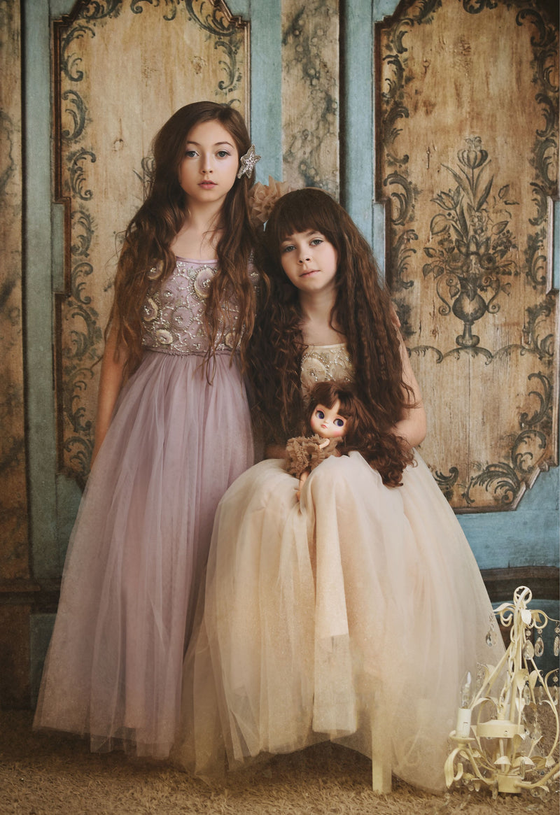 [ OUTLET!] DOLLY by Le Petit Tom ® FLOWER ANGEL tutu dress coffee