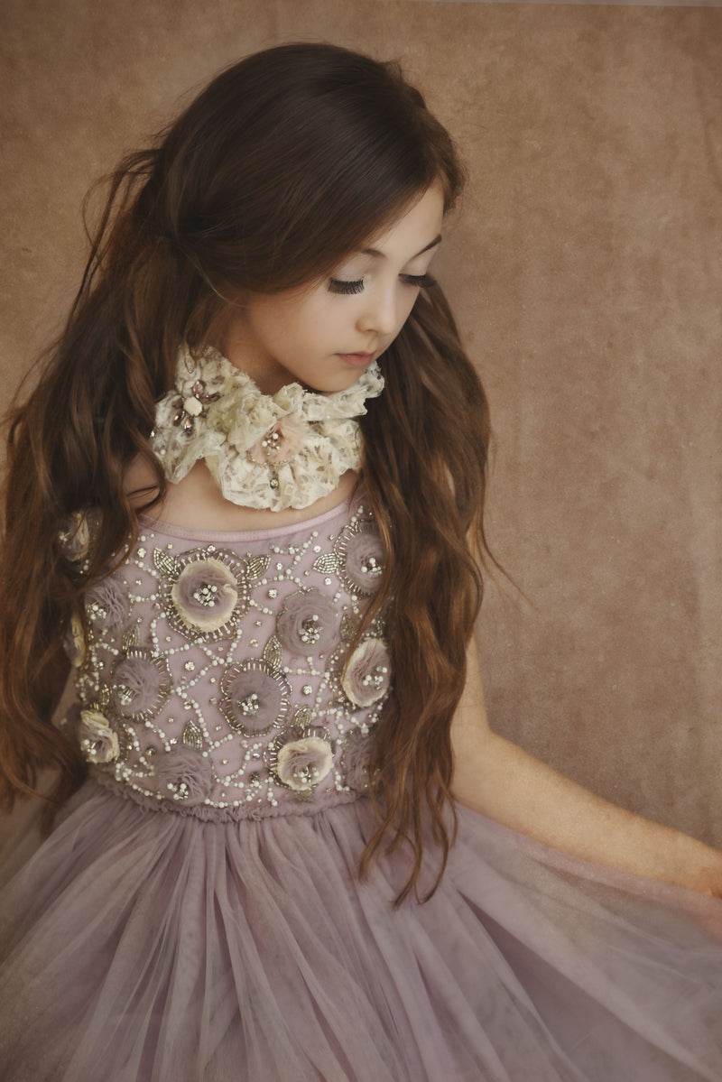 [ OUTLET!] DOLLY by Le Petit Tom ® FLOWER ANGEL tutu dress violet