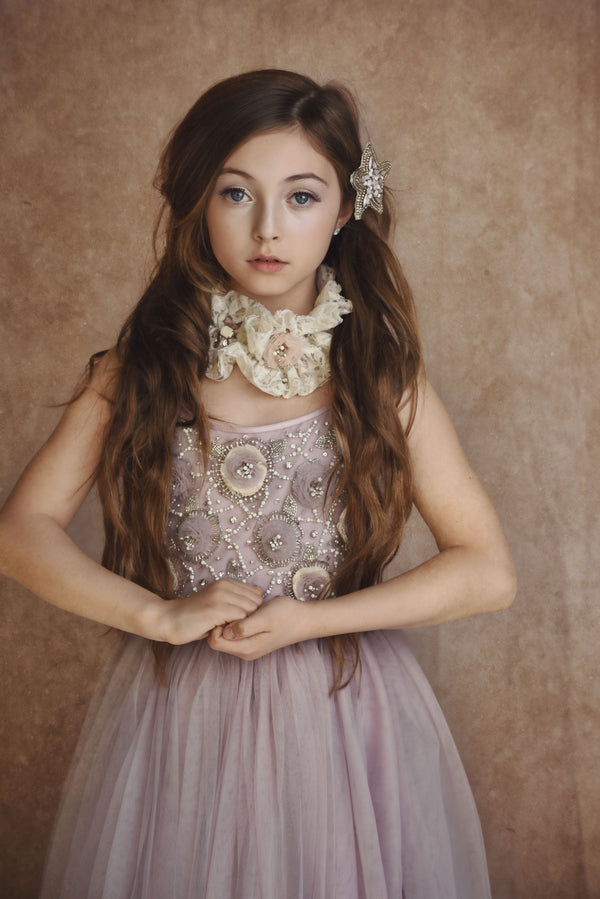 [ PRE ORDER !] DOLLY by Le Petit Tom ® ANGELS lace flower neck ruffle