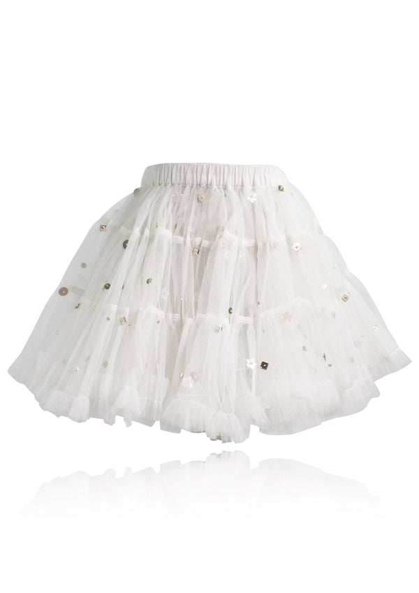 DOLLY by Le Petit Tom ® EMBELLISHED PETTISKIRT TUTU white - DOLLY by Le Petit Tom ®