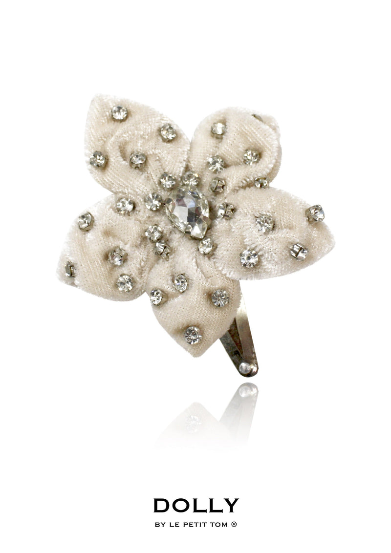 DOLLY by Le Petit Tom ® ENCHANTED hair clip beige - DOLLY by Le Petit Tom ®