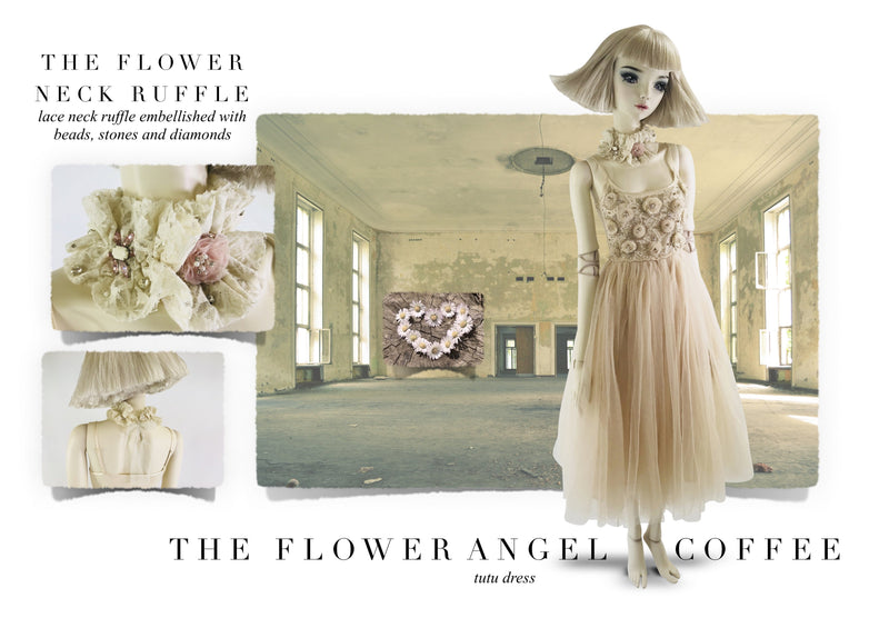 DOLLY by Le Petit Tom ® FLOWER ANGEL tutu dress coffee - DOLLY by Le Petit Tom ®